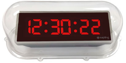 Sapling Clear Protective Clock Cover for Digital Clocks