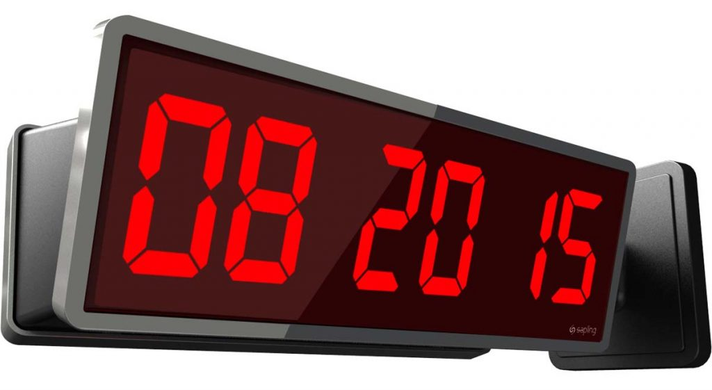 Sapling 406 Wall Double Mount Red Date Display