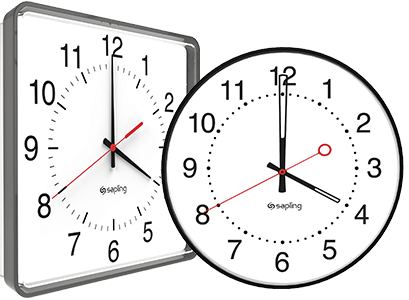 Round and square analog clocks