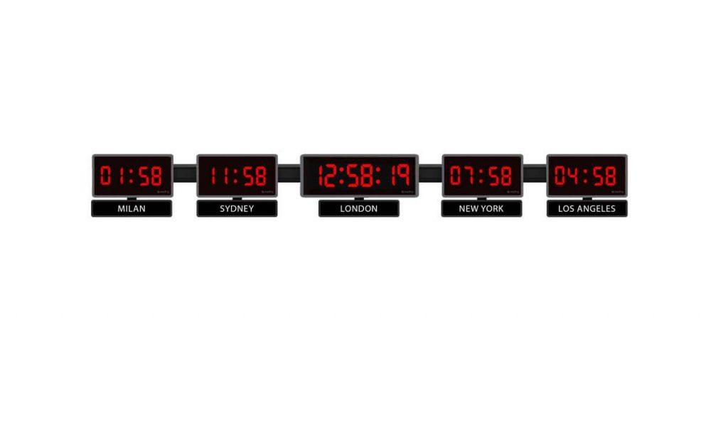 Sapling 404 Center 406 Zone Clock 5 Time Zones