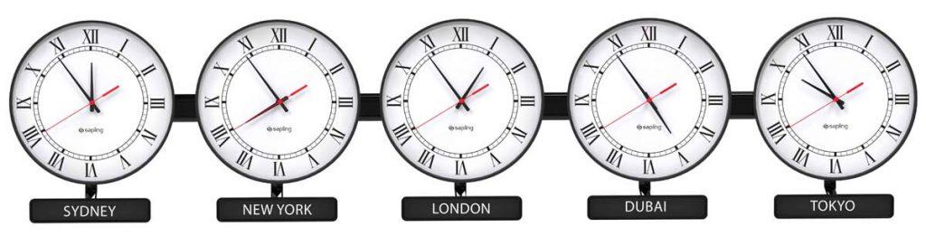 Sapling Round Analog Zone Clock Dial E Hands S