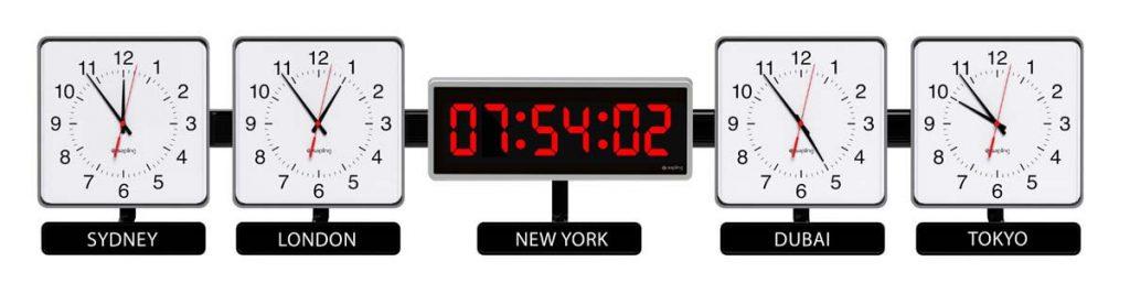 Sapling Square Analog Dial S Hands S Center 406 Digital Zone Clock 5 Time Zones M