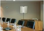 Spectracom SecureSync GPS NTP Indoor Skylight Antenna In Conference Room